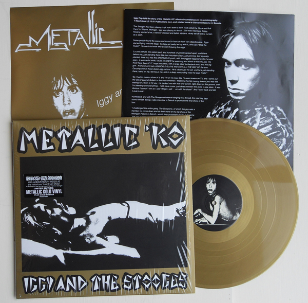 Iggy and Stooges Metallic KO gold LP photo