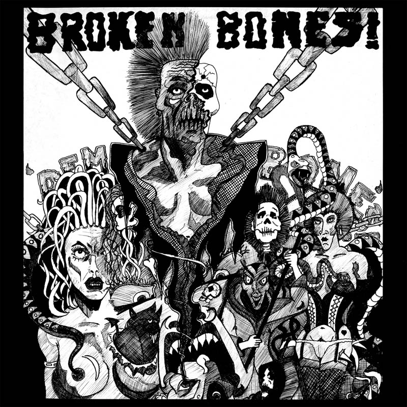 Broken Bones 'Dem Bones' LP cover